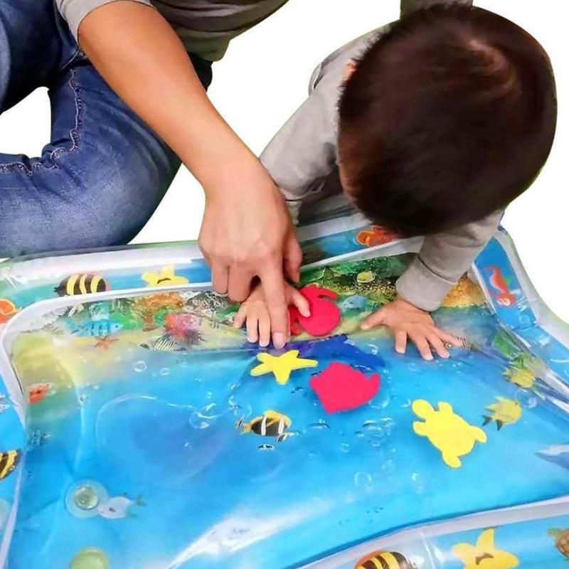 8 Estilo do bebê jogar água esteira inflável engrossar infantil PVC Tempo da barriga Playmat criança para o bebê Fun Atividade Jogar Centro Dropship