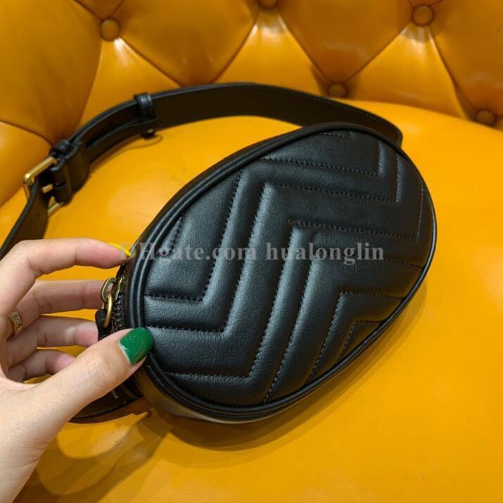 Beutelfrauen echtes Leder-Taillen Marmont Handtasche hochwertige original box Markendesigner berühmt neue Mode