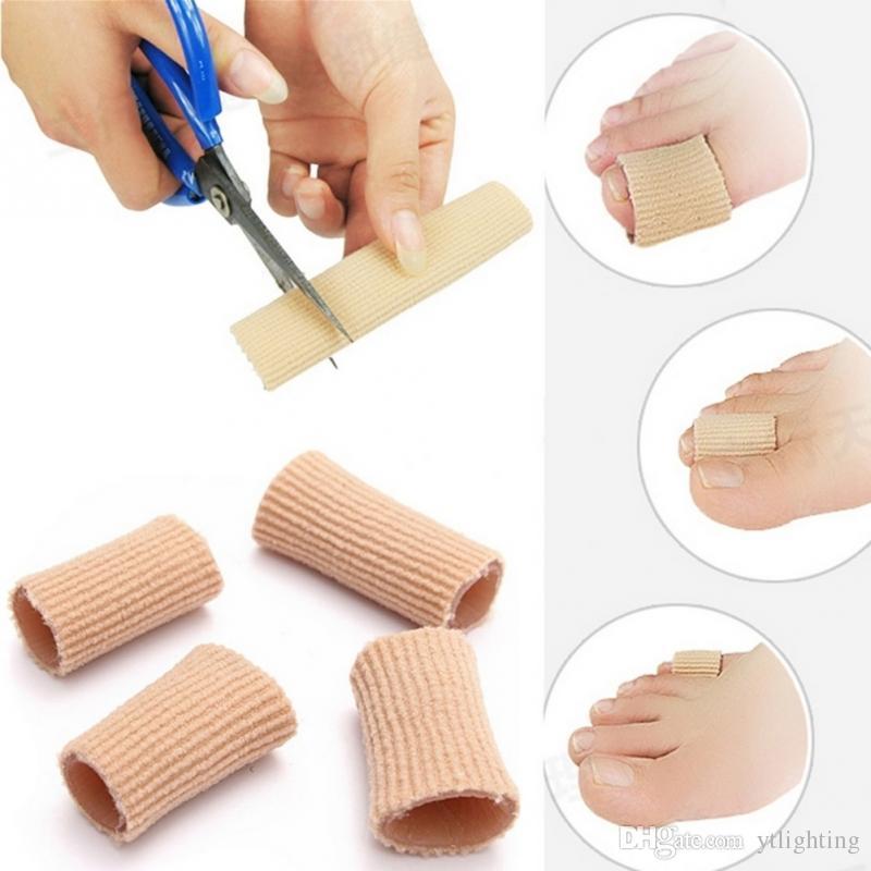 Pieds correcteur de doigt Semelles Tissu Gel Silicone Tube Oignons Doigts Séparateur Séparateur Séparateur Protecteur Corns Callosités