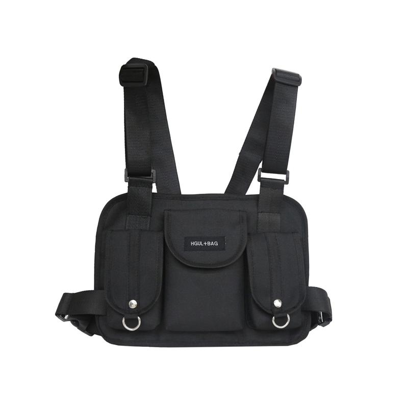 카니 예 웨스트 bolso 디자이너-2019 패션 가슴 장비 허리 가방 힙합 스트리트 기능 전술 가슴 가방 크로스 어깨 가방