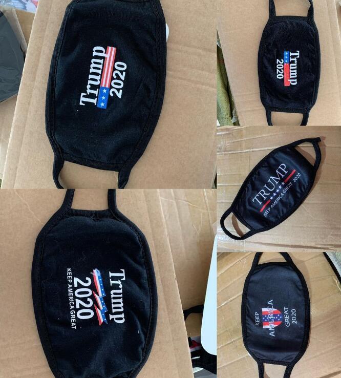 18styles Trump Yüz Pamuk koz 2020 Maskeler Maske Bez Anti-toz Kadın Erkek Unisex Moda Kış Siyah ABD Bayrağı Maskeler Isınma Maske GGA3546-10