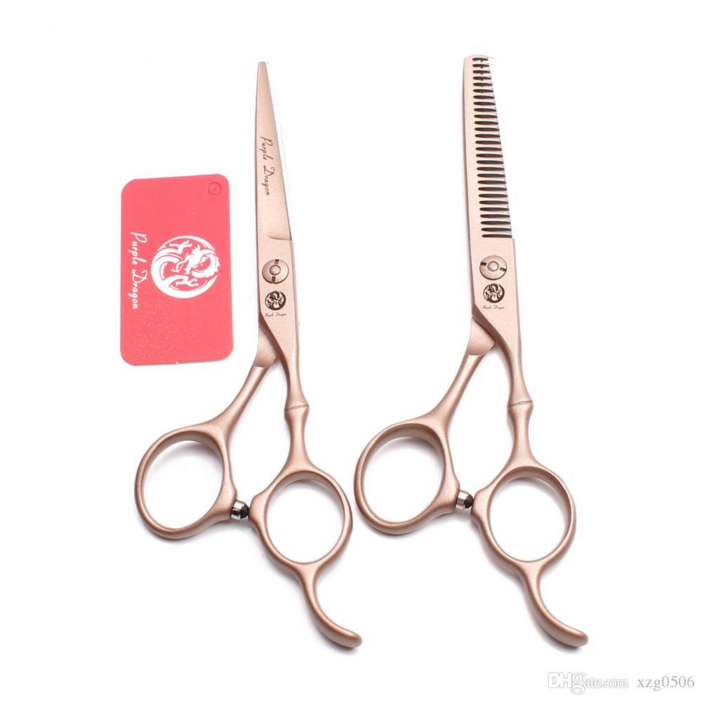 """6,0 """"17,5 cm inossidabile drago viola marca in oro rosa forbici da barbiere forbici da parrucchiere cesoie da taglio forbici da sfoltimento forbici per capelli Z9030"""