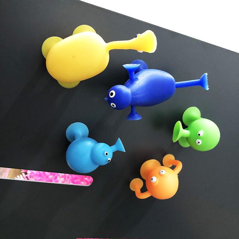 الجدة TPR 5 أنماط قبيبة مضحك الكرتون الحيوان نموذج المصاص البسيطة كأس شفط جامع كبسولة دمية العمل اللعب الشكل بالجملة