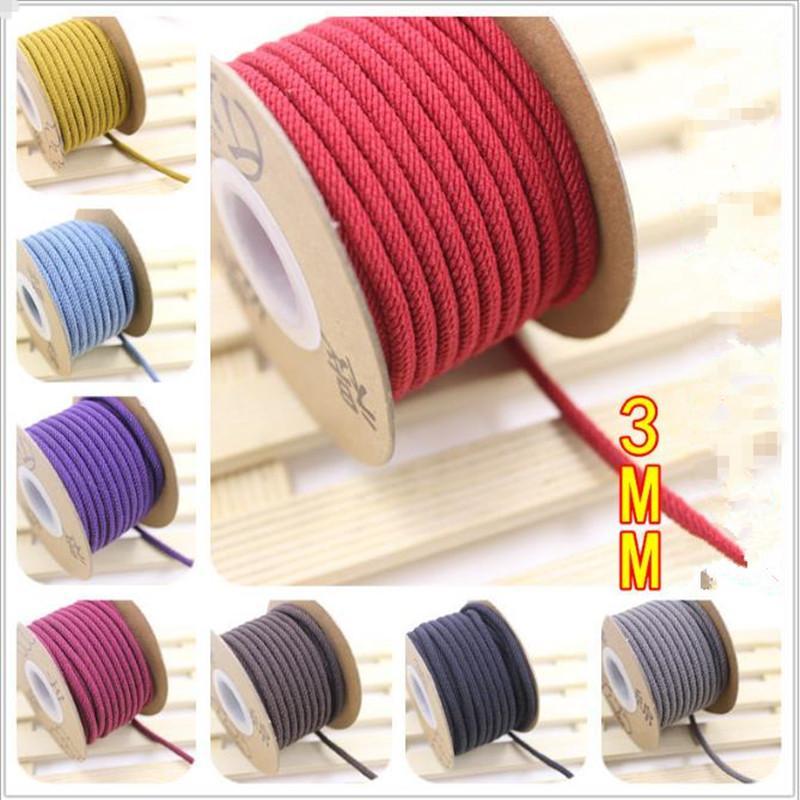 Fil 8 couleurs tresse tissée ligne ligne corde corde corde 3mm bracelet bricolage bracelet mode bijoux bracelet fille garçon 9 mètre