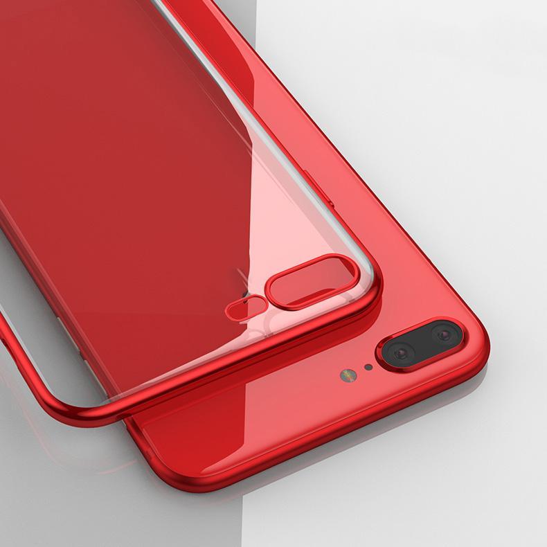 Adatto per il telefono cellulare Apple 8 8 PLUS XSMAX 11Pro XR coperture del telefono mobile di placcatura originale alta trasparente anticaduta guscio protettivo