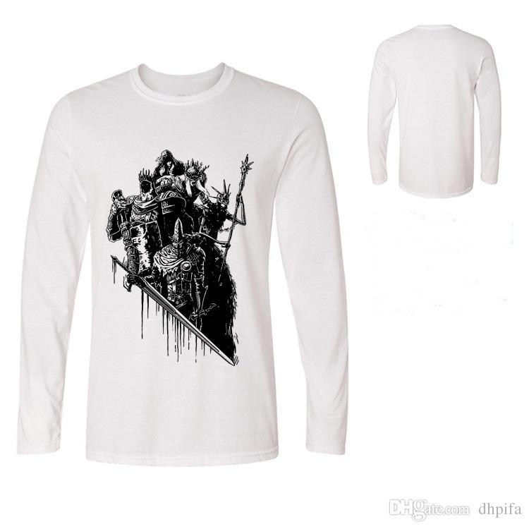 T-shirt pour hommes Dark Souls T-shirt de jeu Lords of Cinder Vêtements Crâne Guerrier T-shirt Homme T-shirt Lords of Cinder Tee-shirt Polos