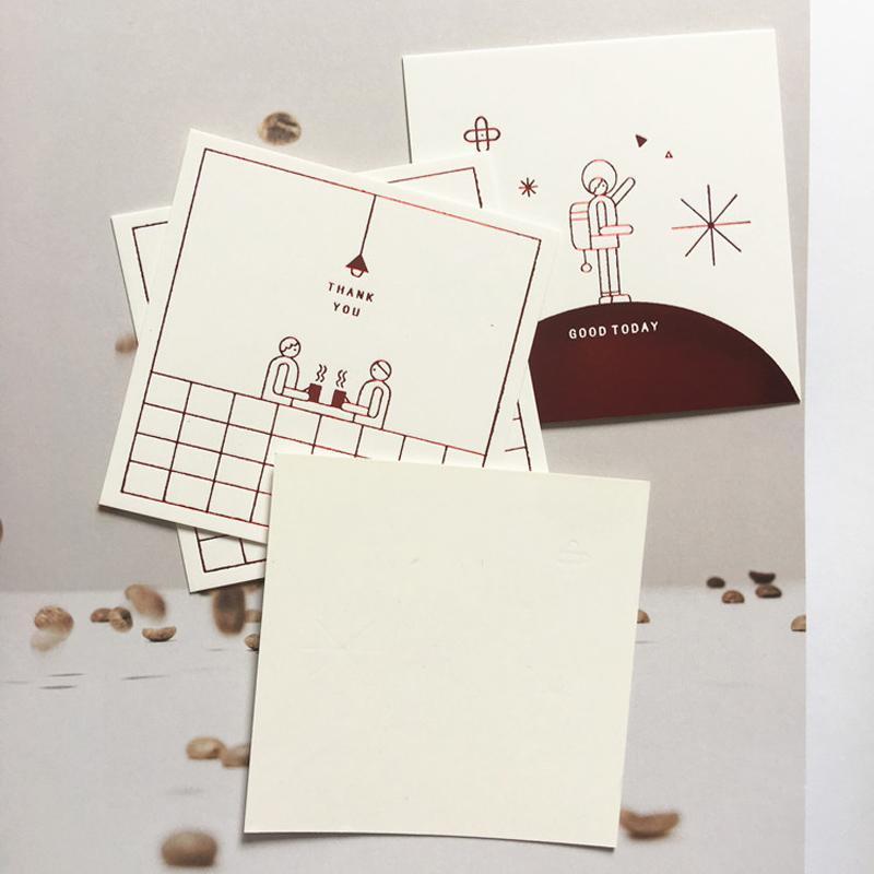 50 pcs obrigado leitoso branco cartões cumprimento da mensagem de papel cartão de convite de presente fontes da festa de aniversário