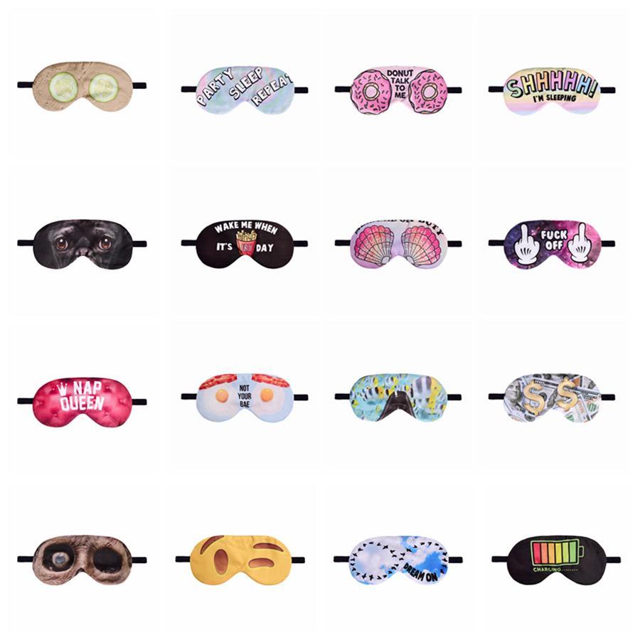 Máscaras de impresión en 3D ojo del sueño para dormir Eye Mask precioso Cuidado de los Ojos Máscara Sombra Ojos vendados sueño de la cubierta Herramientas para dormir