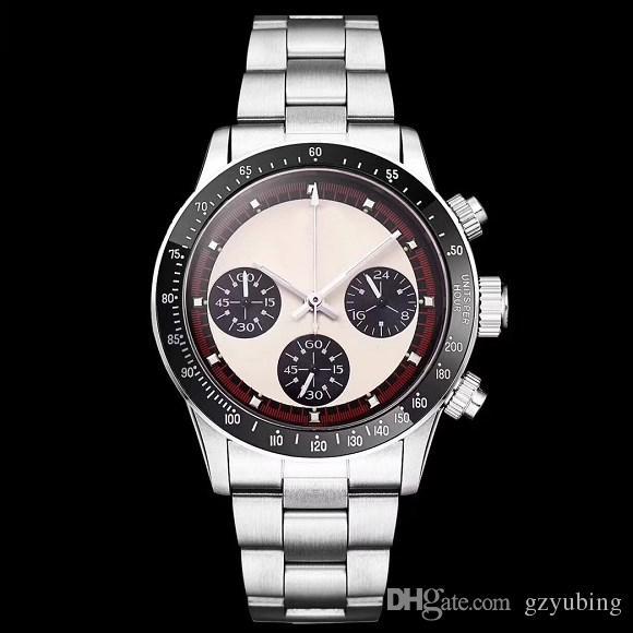 2019 OROLOGIO cronografo vintage perpetuo Paul Newman quarzo giapponese in acciaio inossidabile da uomo orologi da polso orologi da polso