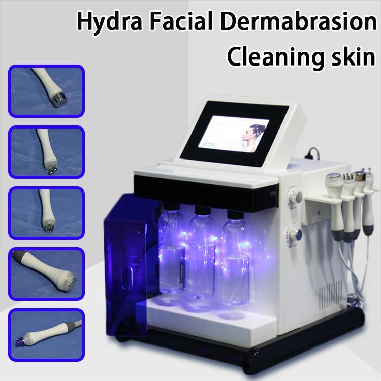 Hydro machine Oxygen Jet Peel Hydro dermabrasion Gommages Rajeunissement de la peau favoriser la circulation sanguine Bio Face Lift Nettoyeur à ultrasons