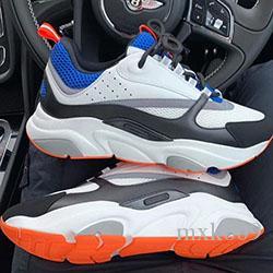 Lace-up antiderrapante malha casuais sapatos de couro rodada toe sapatos respirável sapatilhas dos homens das sapatilhas confortáveis das mulheres B096 cores misturadas