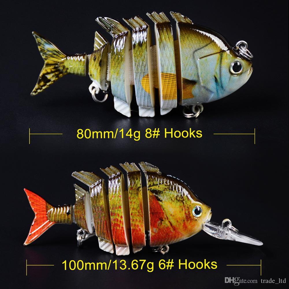 Cálculo de la mejor calidad 6pcs / set 1x 8 / 1x6 secciones de pesca 6 # 8 # Pesca-gancho de pesca Sweitbait pescado pescado cebo artificial cebos de bajo