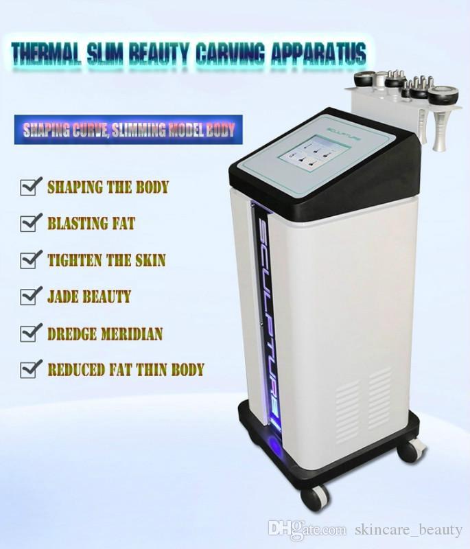 Multifunción portátil Face Lift cavitación ultrasónica Talla Instrumento Rf cuerpo de la aspiradora que forma adelgazando el chorro de grasa máquina