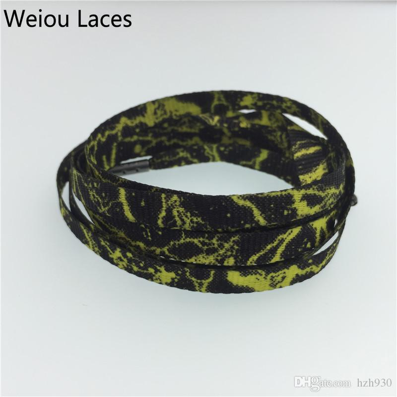 Weiou shoestring tops serigrafía plana cordones de impresión para zapatos de vestir cordones de reemplazo personalizados 63 '' / 160cm