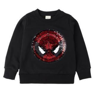 Ins модели взрыва мальчик свитер будет менять одежду Человек-Паук изменить капитан США блестки может перевернуть Детская одежда хлопок балахон