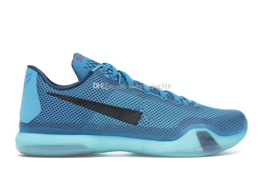 Увеличить Mamba X 10 5 утра Полет Blue Lagoon Изношенные Мужчины Баскетбол обувь Лучшие качества Mamba 10 и 7 спортивной обуви с коробкой Size7-12