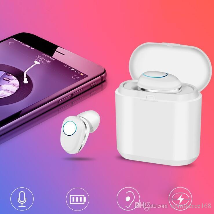 5 0 Touch Bluetooth Headset Mini Invisible True Wireless Single Ear Portable Charging Bin In Ear Sports Headphones Online Headphones With Microphone From Commerce168 20 11 Dhgate Com