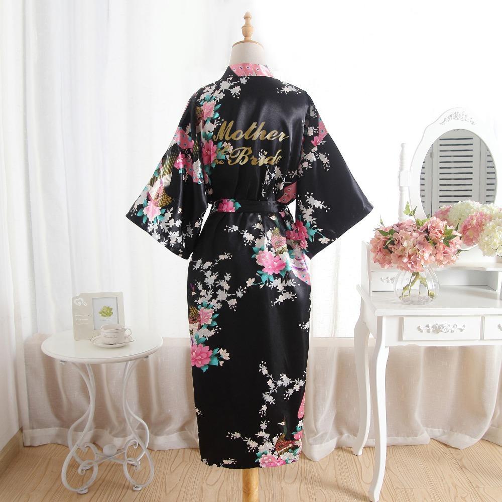 Onur nedime Robe Yeni Saten Düğün Kişiselleştirilmiş Eşleştirme Bornoz Seksi Çiçek Hediye Robe Gelini Elbiseler Maid Of Anne