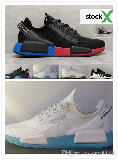 With A Box Nmd R1 V2 Core Black Og Gold Metallic White Oreo Stealthy Women Mens Breathable Brand Designer Shoeus 5 5 11 Shoe Shops Brown Shoes From Qwe88888 42 95 Dhgate Com