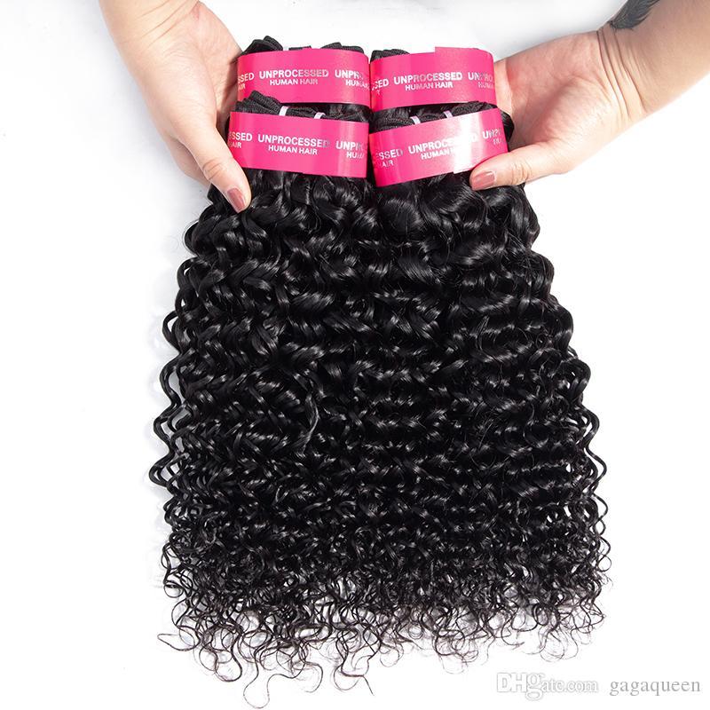 الجملة الهندي عذراء الشعر موجة المياه مل 3pcs موجة المياه غير المعالجة الشعر الهندي الإنسان حزم الرطب ومتموجة البرازيلي الشعر