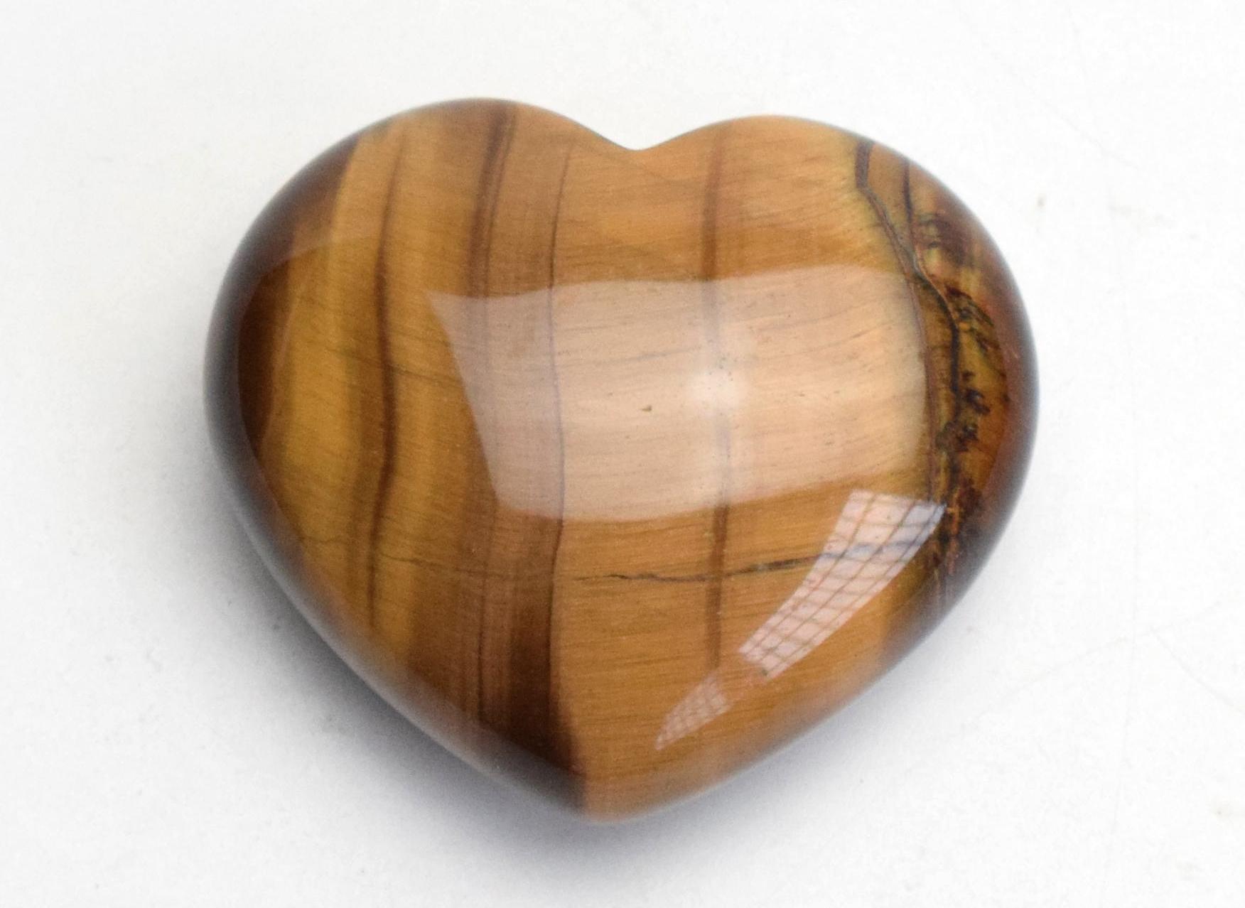 Натуральная Чакра Тигровый Глаз Камень Резной Кристалл Рэйки Исцеление Любовь Пухлый Камень В Форме Сердца