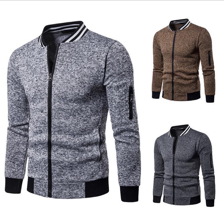 New Spring casuale maglione del rivestimento del rivestimento della trincea tuta sportiva del cappotto Tops uomini di modo