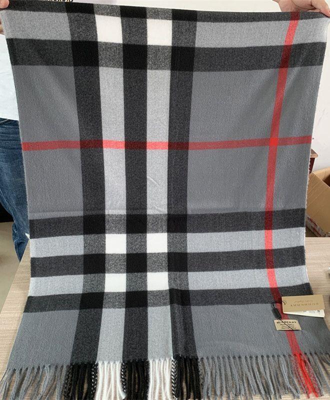 С Box Bag 200 * 70см женщин людей Роскошные дизайнерские Платки Платки 2019 Winter Fashion High End Классический Check Blanket шарфы кашемира шарф