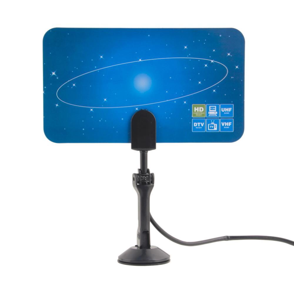 Envío gratuito 1 unids HDTV DTV VHF UHF PC NB Flat Digital Interior HD TV Antena de alta ganancia 1080 i P Promoción