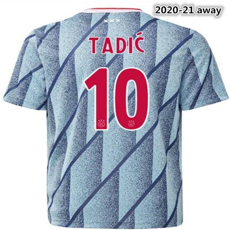uzakta Yeni Deplasman çocuklar Kiti + çorap 2021 AjaxES futbol forması TADIC ZIYECH Huntelaar VAN DE BEEK çocuk gömlek 20/21 Futbol gömlek