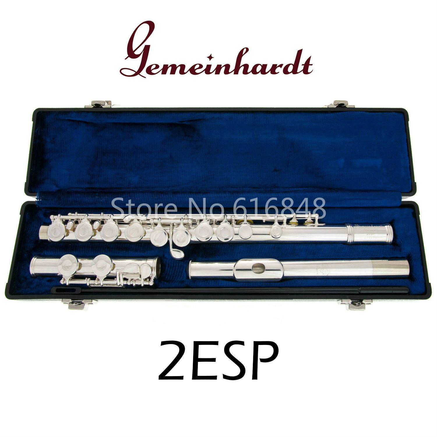 Gemeinhardt 2ESP C Tune Flute 16 Keys Holes Closed New Cupronickel Silver Plated Flute Musical Instrument Flute with Case Free Shipping