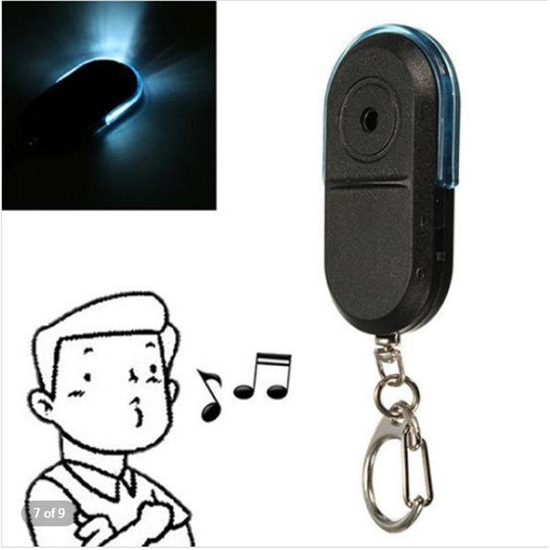 Wireless 10m Pet Dog Anti-Lost Alarm Key Finder Locator Keychain Whistle Sound With LED Light Mini Anti Lost Key Finder