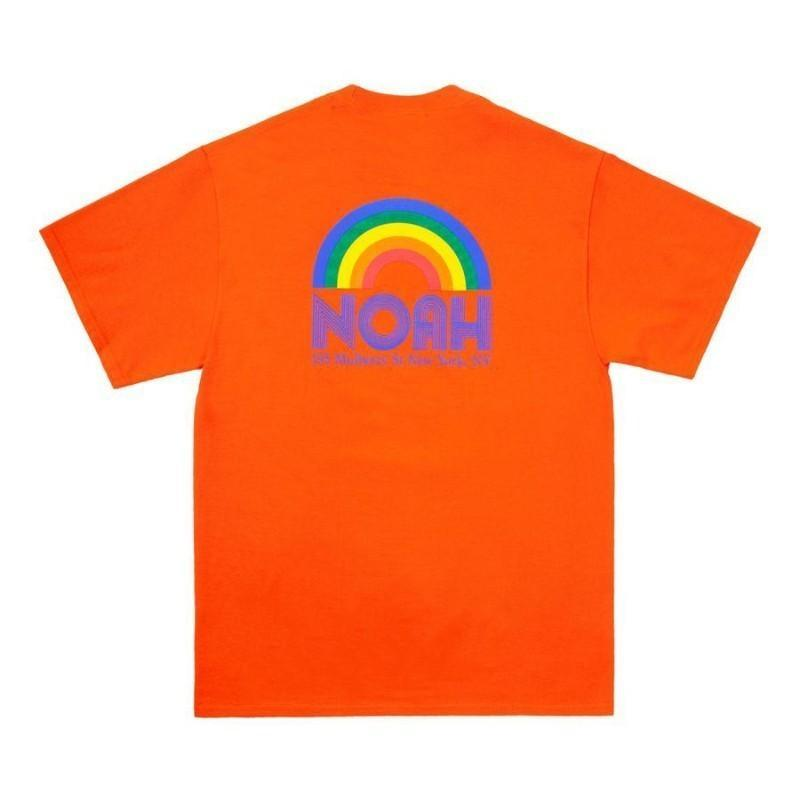 18FW Ной Радуга Любовь Vigilantes Круглый шеи Ти Печатается Нижняя рубашка Мода длинным рукавом футболки моды Пара Highstreet футболки