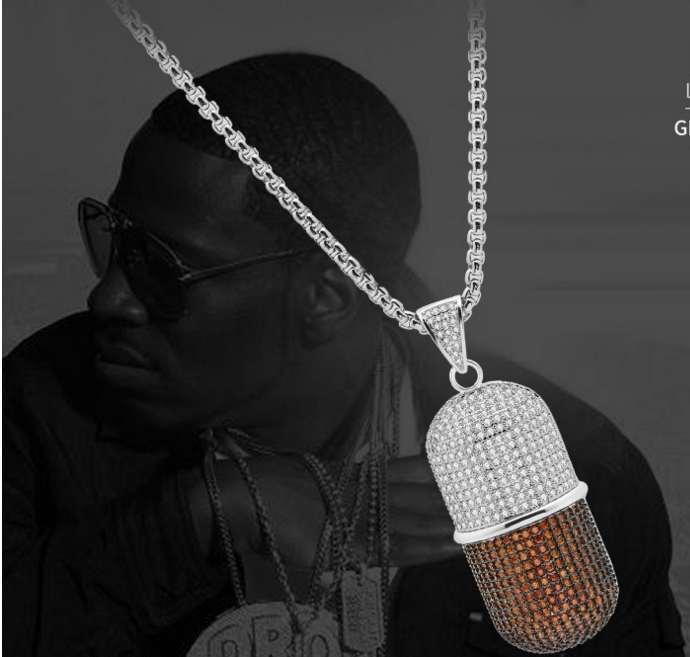 Erkek Zirkonyum kolye Tam Rhinestones Rhinestone Takı Asfaltlanmış hip hop bling zincirleri Hip hop Yüksek Kalite Link Zinciri Damla Nakliye