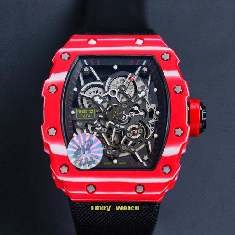 Jh Top Version Rm 35 02 Rafael Nadal Skeleton Dial Miyota Automatic Rm35 02 Mens Watch Ntpt Red Carbon Fiber Case Nylon Strap Sport Watches Watch Buy Buy A Watch From Luxry Watch 4 83 Dhgate Com