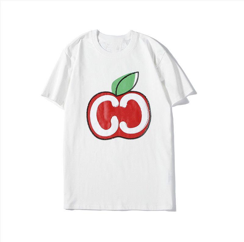 20S di nuovo stile delle donne T Shirt Designer casuale 2020 Estate manica corta di Apple T-shirt stampata di lusso di modo delle donne di alta qualità T Shirt Cloth