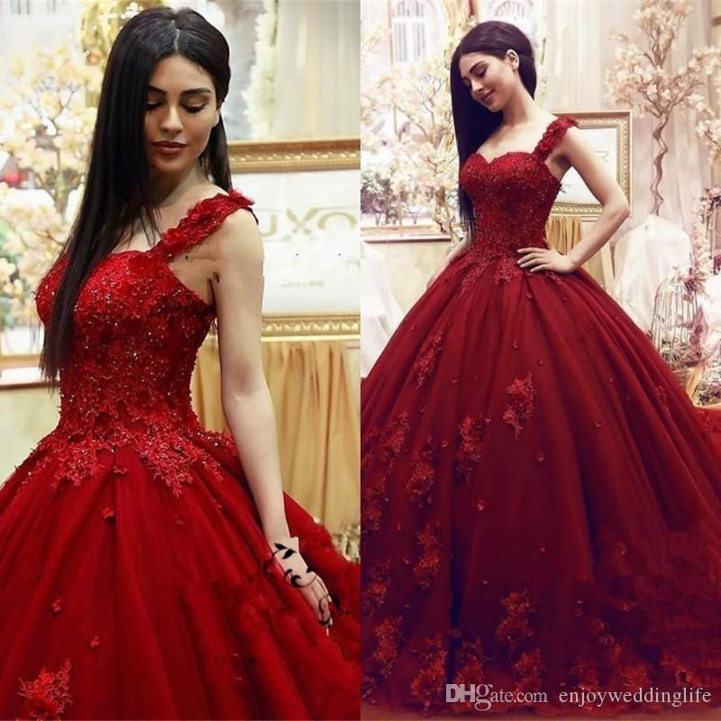 2020 Fashion douce 16 Quinceanera robe de bal en dentelle 3D floraux perles Masquerade Appliques Puffy longue de bal du soir Tenue de soirée Robes