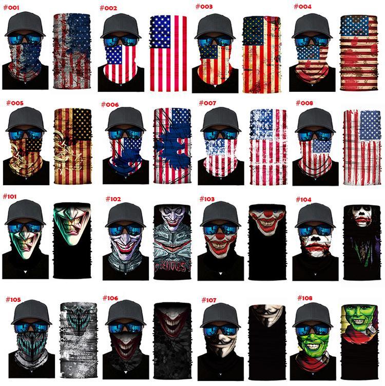 Yüz Kalkanı Kafatasları Maske Eşarp Balıkçılık Bisiklet Balaclava Boyun Tozluk Açık Bez