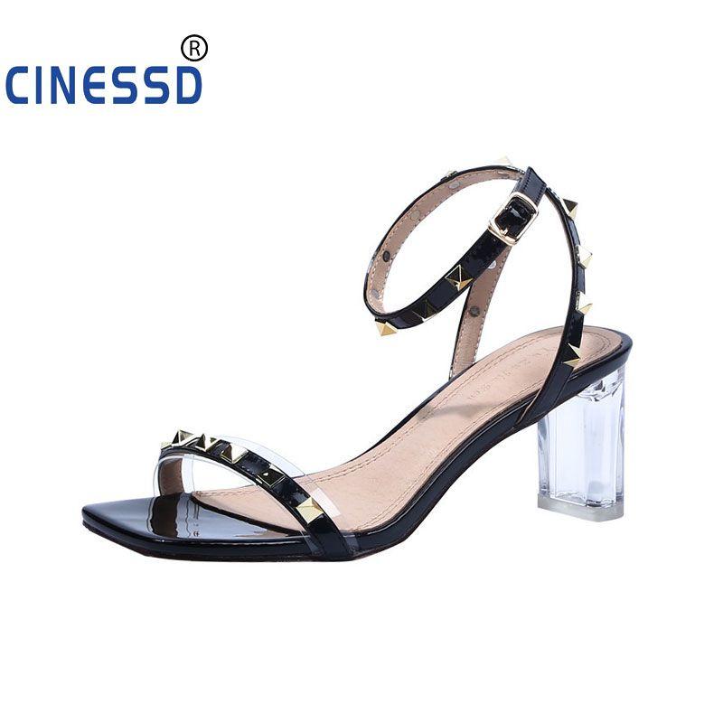 Moda 2020 Mulheres Platform Sandals Verão Aberto à frente Rivet Sandálias Bucket Ladies sapatos confortáveis Casual Plus Size 35-43 Sapatos