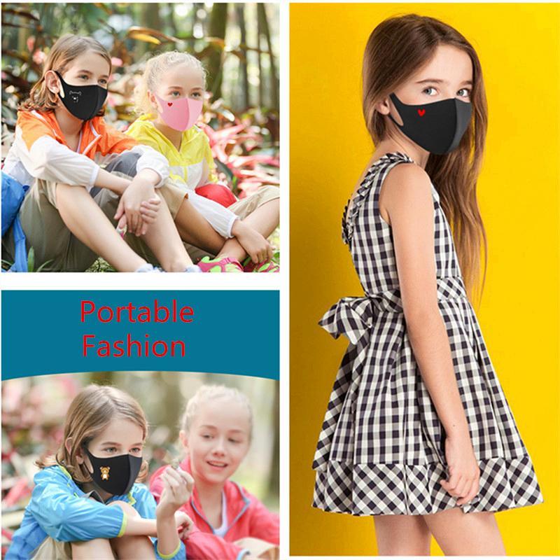Дети анти-пыль маска для лица мультфильм печати рот крышка PM2.5 Маска дети респиратор пылезащитный дышащий моющиеся многоразовые губки маски топ