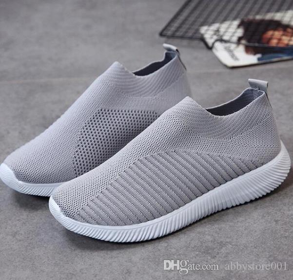 0723 A10 clássico malha respirável calçados casuais da Primavera Homens de Verão das mulheres casuais sapatos da moda em sapatas apartamentos com Box