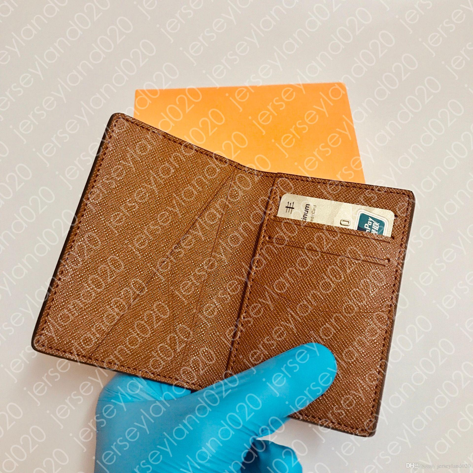 El diseñador de moda de lujo Corto múltiple del portatarjetas de la moneda clave compacto bolsillo organizador M60502 de los hombres de la lona del grafito de Damier N63143