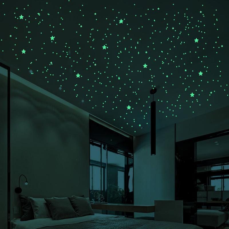 Glow In The Dark Star Stickers Muraux 407Pcs Round Dot lumineux Chambre Enfants Décor Salon enfants décoration chambre