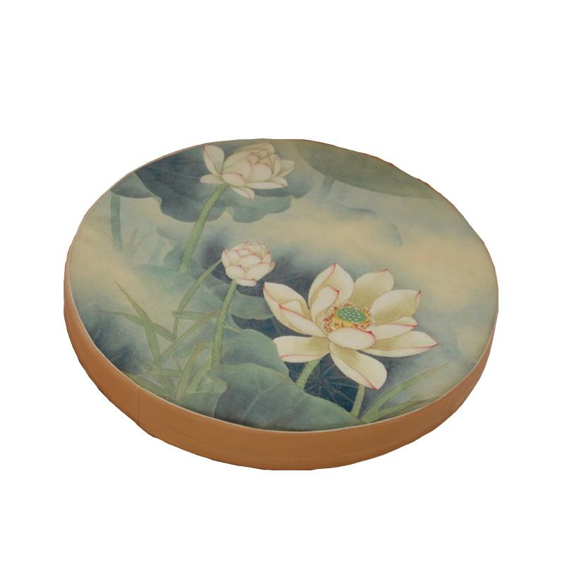 Printed Cotton Meditation Seat Cushion Traditional Chinese Lotus Round Pouf Tatami Floor Cushions Yoga Mat