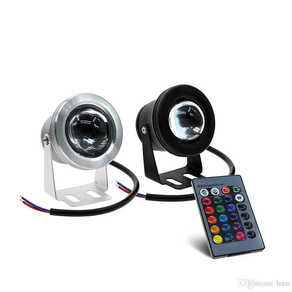 10W 12V RGB 수중 Led 빛 투광 IP67는 1000lm 16 색 원격 분수에 대한 풀 장식으로 변경