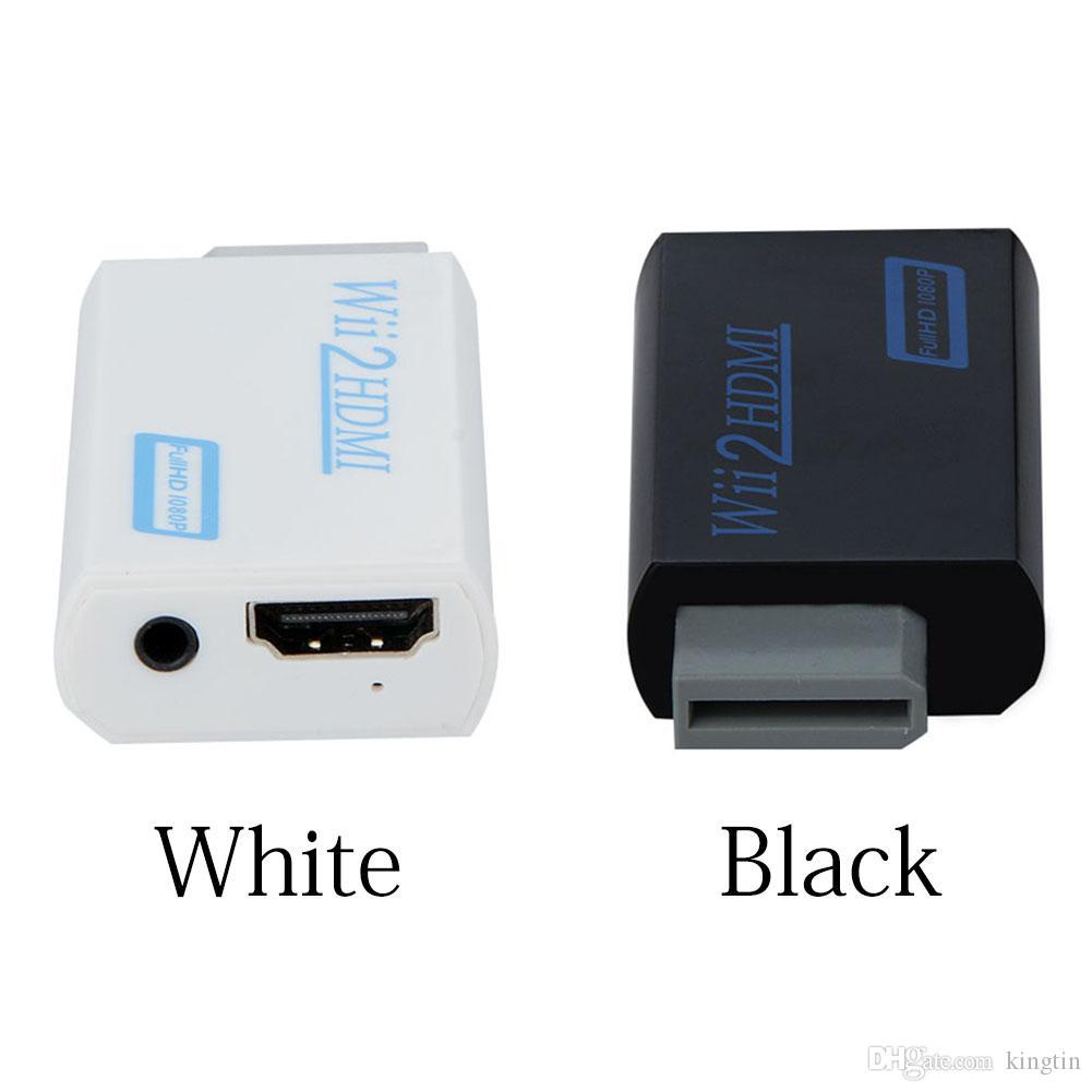 1000 pz all'ingrosso grossista convertitore adattatore Wii a HUB 3.5mm adattatore audio Wii2HDMI uscita video per supporto monitor HDTV 720P 1080P