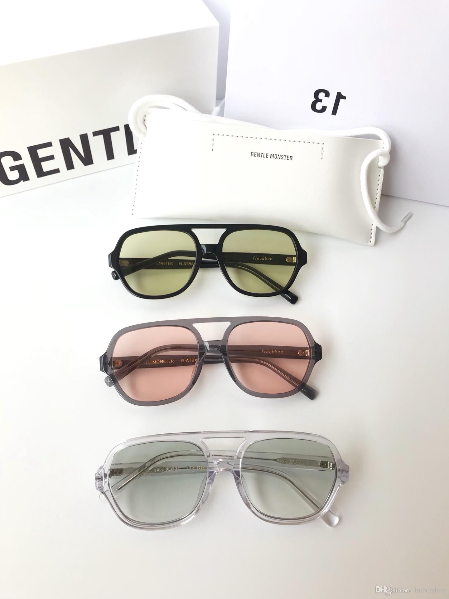 2019 Hot Sale Korea Famous Designer Sunglasses GM FLACKBEE Fashion Unisex Sunglasses for men and women UV400 Sunglasses with box