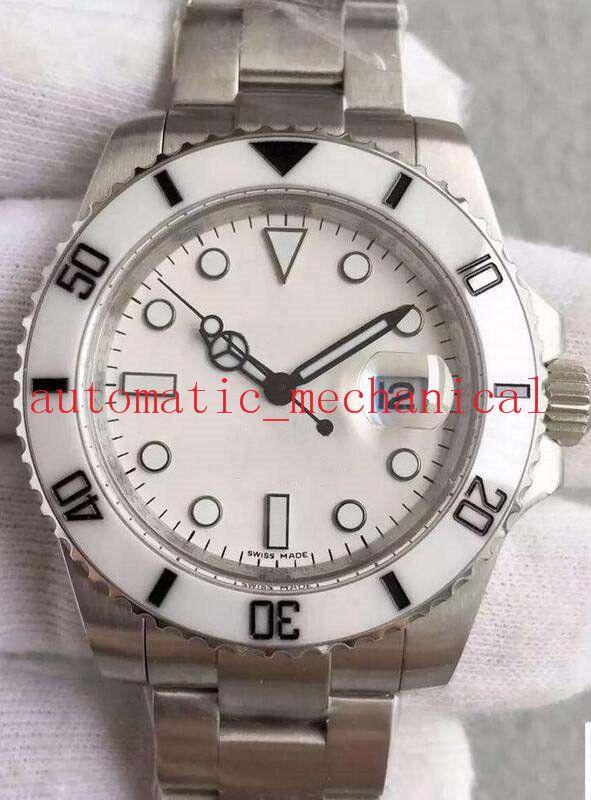 Montre de Luxe 2 Style de nouveau calendrier 40mm en acier céramique Bezel cadran rose Mens Watch 116610 Montres Mode Automatique Hommes Montre