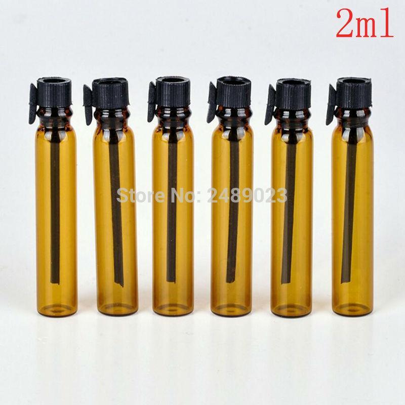 200pieces / Лот 2 мл мини путешествие стеклянные парфюмерные флакон для эфирных масел пустые Conteniori Cosmetici Vuoti для образца