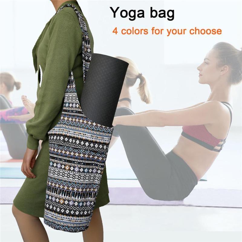Bohe yoga bolsa de mano bolsa de deporte para la aptitud de la capacidad grande de Yoga Mat Pilates Mochila Baile de almacenamiento portátil caja de Mat