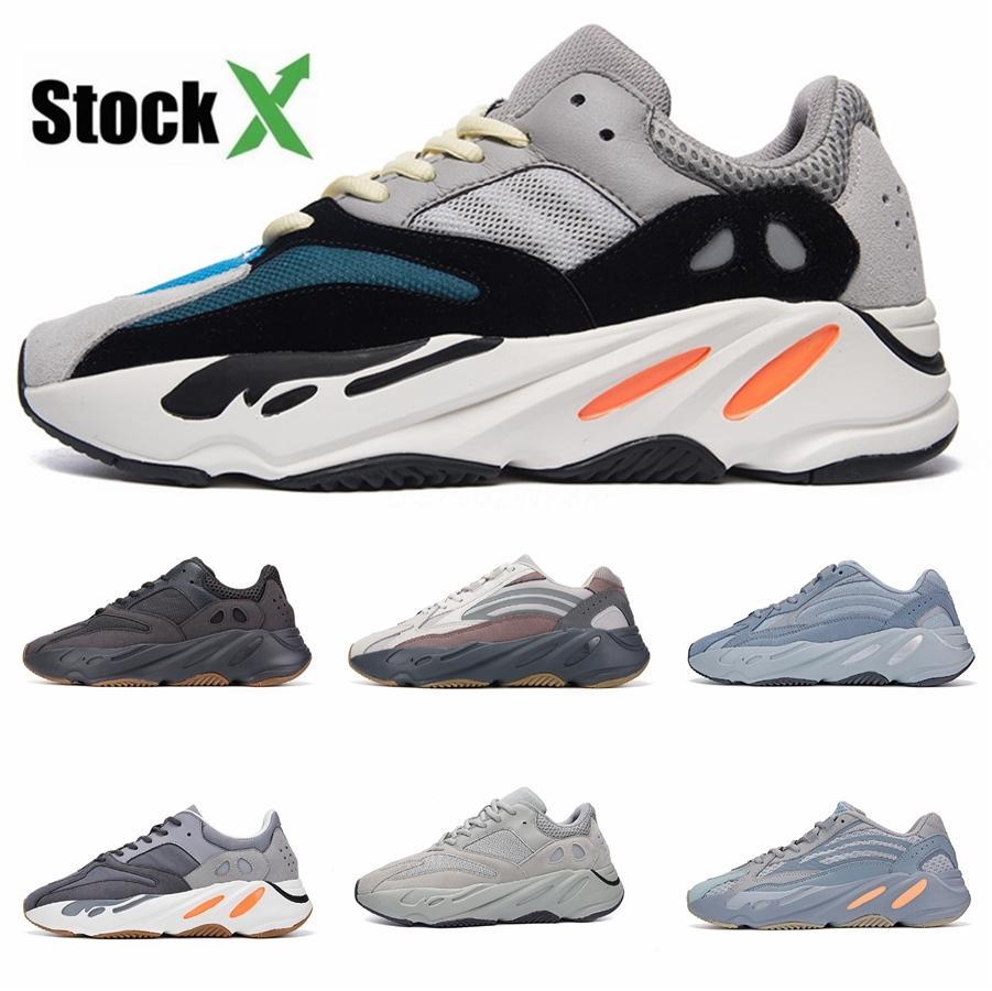 Yeni 700 Dalga Runner Leylak Atalet Erkek Ayakkabı Kanye West Tasarımcı ayakkabı erkekler Kadınlar 700 V2 Statik Spor Seankers Boyut 36-45 # 0918Fa # # DSK537